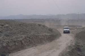 The main road to our village reception.