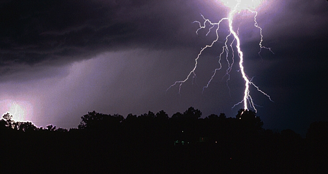 The thunderstorm in Meade County, Kentucky where I GOT THE SHOT!