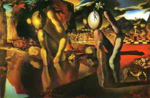 """The Metamorphosis of Narcissus"" by Salvador Dali.  That's what I'm looking for - a metamorphosis!"